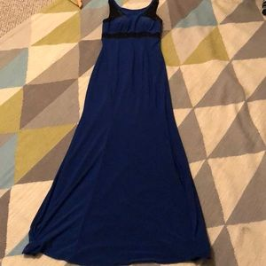 NWT Cache royal blue long formal w/ black accent